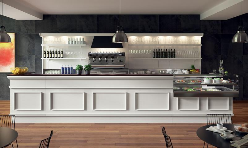 Arredamento bar completo lunghezza totale 5 metri saba for Bar arredamento
